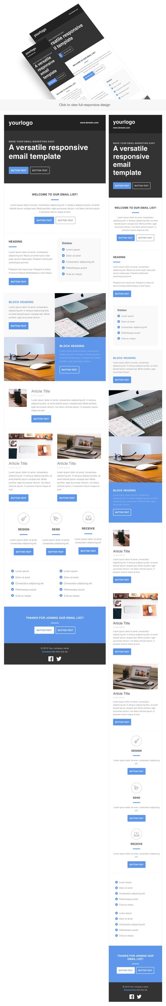 1000 ideas about html email templates on pinterest email templates responsive email and. Black Bedroom Furniture Sets. Home Design Ideas