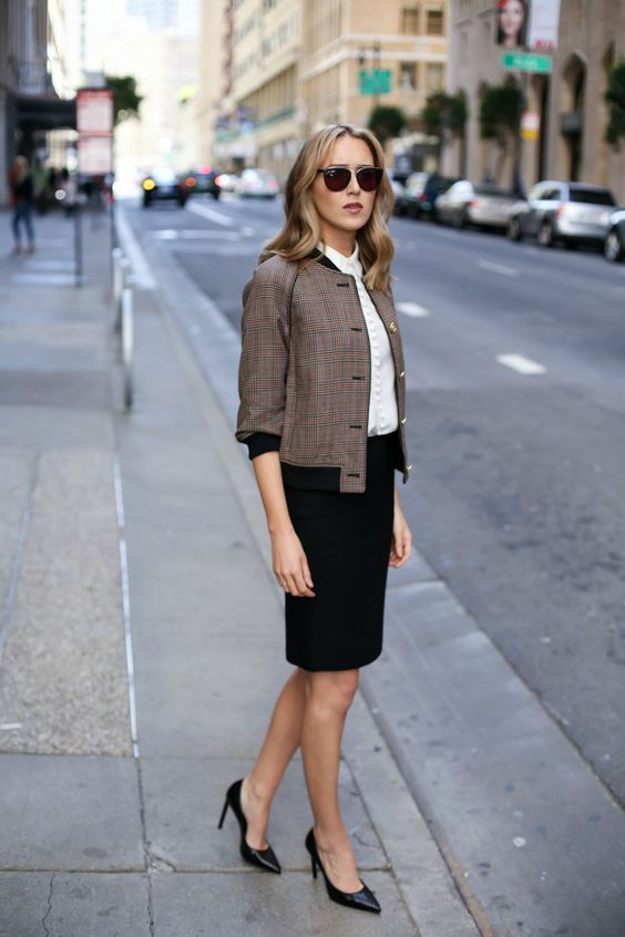How to Wear a Bomber Jacket to the Office | MEMORANDUM, formerly The Classy Cubicle