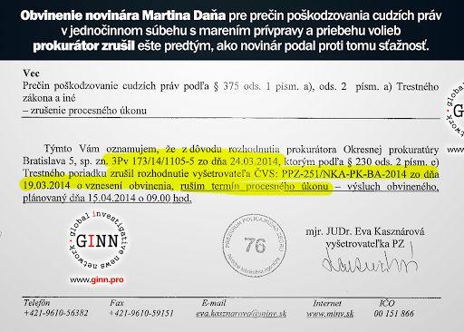 Prokuratúra zrušila obvinenie vo veci marenie volieb a referenda: Novinár Martin Daňo čelil… #news #investigation #politics #government