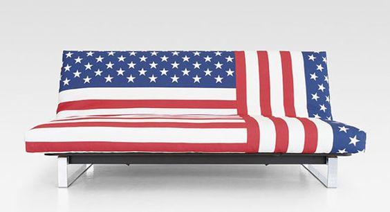 American Flag Sofa Cover