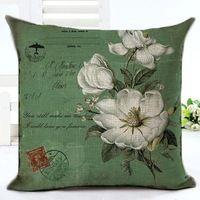 Alta Quatily moda ocidental do Vintage flores cadeira coxim Decor Fundas sofá jogar travesseiro impresso Cotton Linen praça Fundas