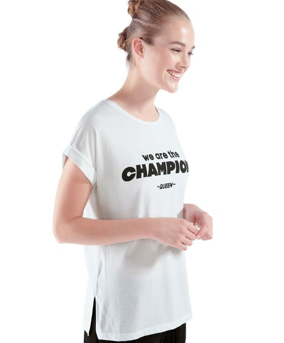 T-shirt We are the Champions - OYSHO