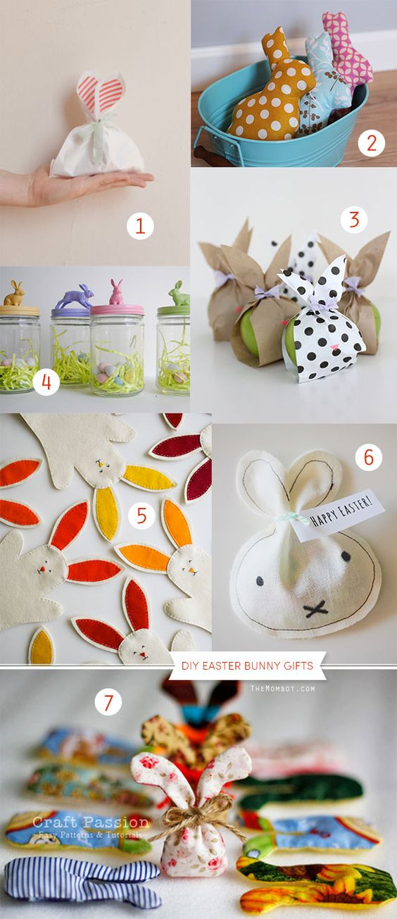 DIY easter bunny gifts and treat bags | TheMombot.com: