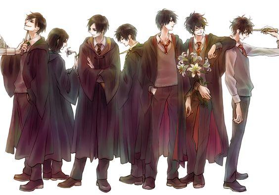 Tom Riddle, Severus Snape, Cedric Diggory, Regulus Black, Sirius Black, James Potter, Harry Potter