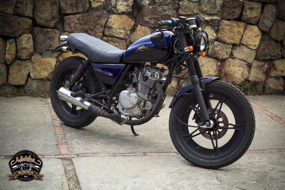 moto suzuki gn 125 modificada corte cafe racer motonetas pinterest cafe racers. Black Bedroom Furniture Sets. Home Design Ideas