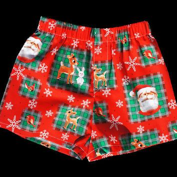 Boys Christmas Santa boxer shorts, boy underwear, lounging shorts ...