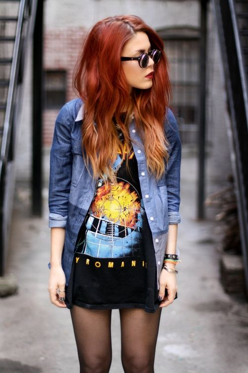 red-blonde ombre. It's way cute, but it would just kill my ends!