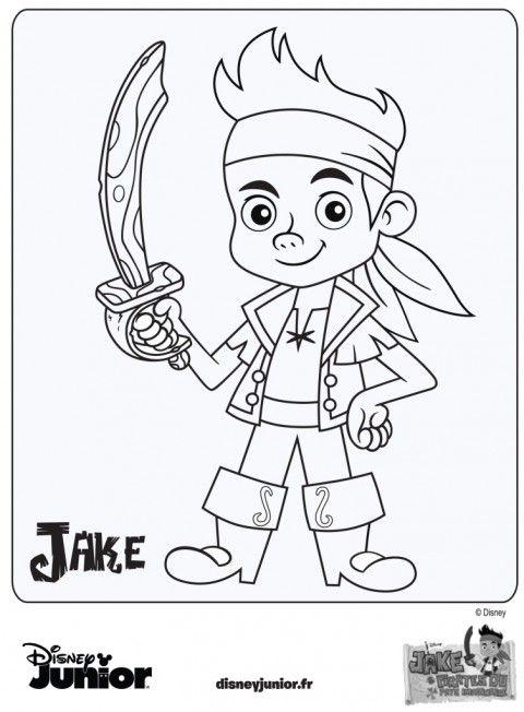 Coloriage Jake et les Pirates du Pays Imaginaire - Disney Junior