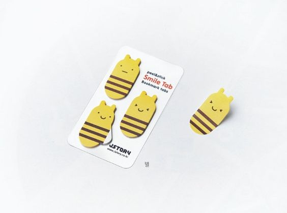 Sticky Note [ Bee ] / Bookmark / Note pad / Memo pad / Index sticky note de DubuDumo en Etsy https://www.etsy.com/es/listing/203836106/sticky-note-bee-bookmark-note-pad-memo