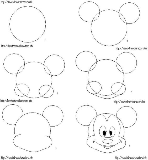 How to draw mickey mouse o disney crafts o for How to draw with a mouse