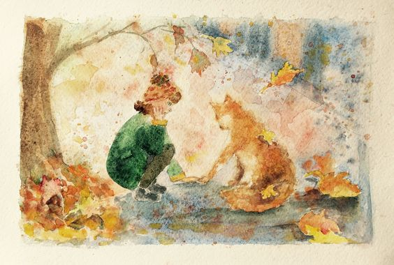 Watercolor illustration By N. Stephanians