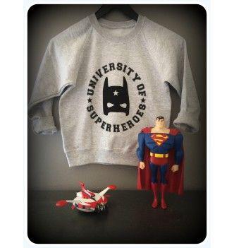 Sweat shirt super-héro by LZ'B - Rock On Babies