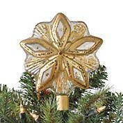 Shimmering Star Christmas Tree Topper, Gold