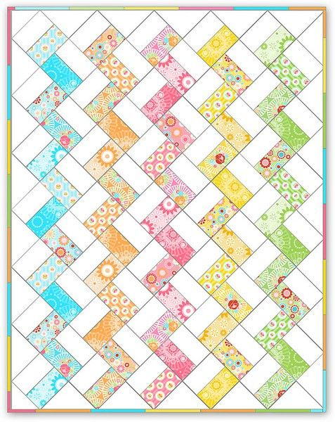simple jelly roll quilt. Very quick pattern.                              …