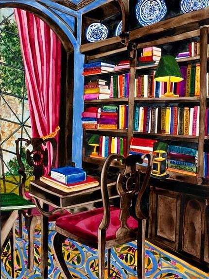 A great place to read by Artist: Annika Connor The Lovejoy Approach, 21st century.