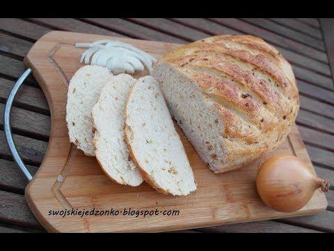 Chlebek Cebulowy Z Chrupiaca Skorka Jak Upiec Chleb Chleb Cebulowy Prostyprzepis Youtube Food Bread Baking