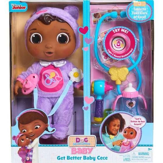 Disney Junior Doc Mcstuffins Get Better Baby Cece Set Baby Dolls For Kids Doc Mcstuffins Toys Doc Mcstuffins