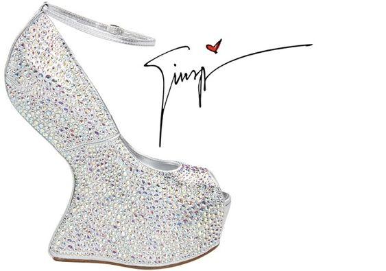 Giuseppe Zanotticrystal embellished heel-less peep-toe platform