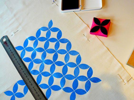 Imprimir artesanalmente con sellos