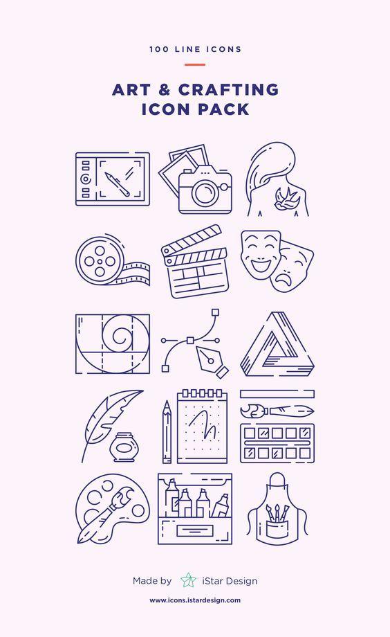 Mega Bundle Plastic Art Art And Craft Videos Icon Set