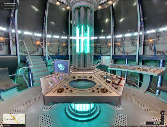 Eleven's second TARDIS Interior via google maps street view
