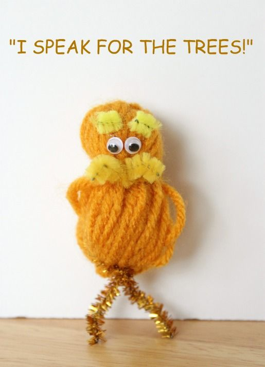 Dr seuss 39 the lorax pom pom craft would be cute as a for Cute pom pom crafts