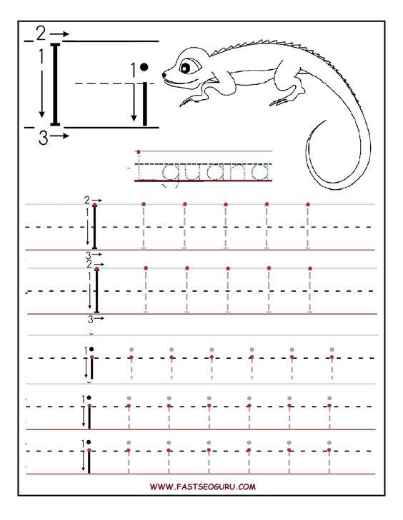 Printable letter I tracing worksheets for preschool.jpg 1,275 ...