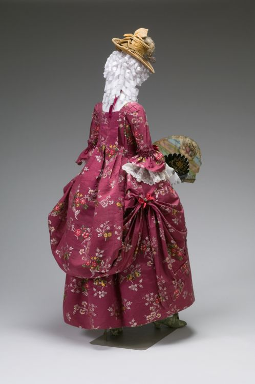 Sack back gown dressed a la Polonaise, 1770-1790, the Mint Museum