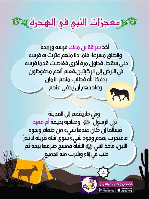 قصص سيدنا محمد قصة الهجرة النبوية للاطفال قصص السيرة النبوية للاطفال بتطبيق حكايات بالعربي Islamic Studies Study Wic