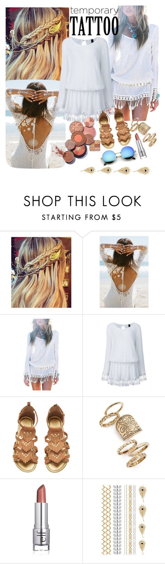"""""""Untitled #34"""" by dhitapuspitan ❤ liked on Polyvore featuring Lulu DK, Topshop and temporarytattoo"""