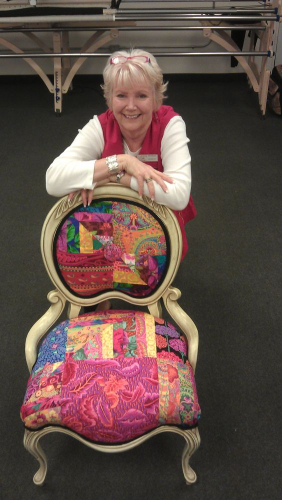 I quilted the fabric, someone else did the upholstering.  Very kewl chair.