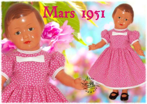Vêtement pour poupée Modes et Travaux Marie Françoise, Françoise Mars 1951