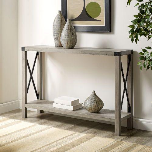 Walker Edison Furniture Co Grey Entryway Table Af46mxetgw In 2020