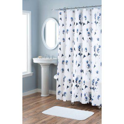 Nicole Miller Le Fleur Cotton Single Shower Curtain Curtains