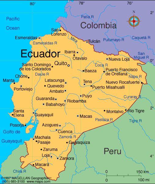Map Of Ecuador And Colombia Carson Dula (carsondula) on Pinterest