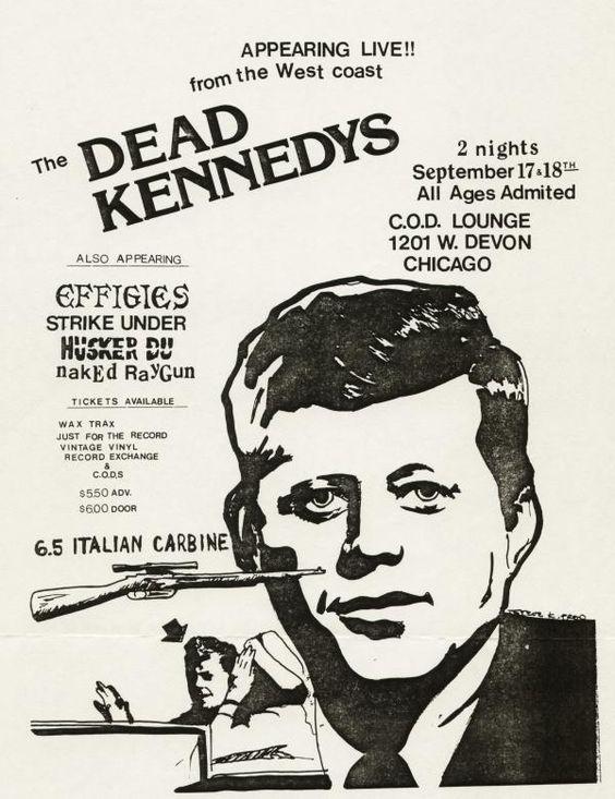 Dead Kennedys, Effigies, Naked Raygun, Husker Du, Strike Under@ COD Lounge. 1981