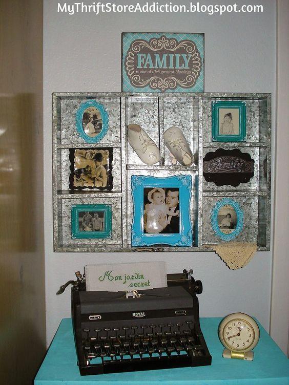 Cherished+Family+Keepsakes+Wall+Decor+Display+Idea