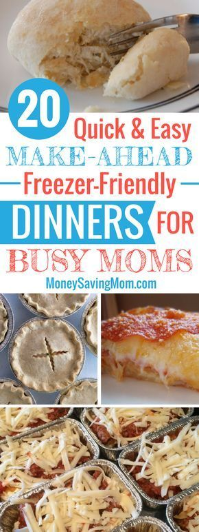 20 Quick & Easy Make-Ahead Freezer-Friendly Dinners for Busy Moms | Money Saving Mom®