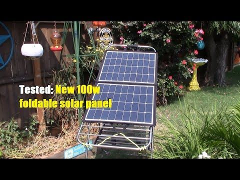Suaoki 100w 18v 12v Solar Panel Charger Sunpower Cell Portable Foldable With Dual Output 5v 2a Usb 18v 5a Dc 10 Lap In 2020 Solar Panels Solar Panel Charger Solar