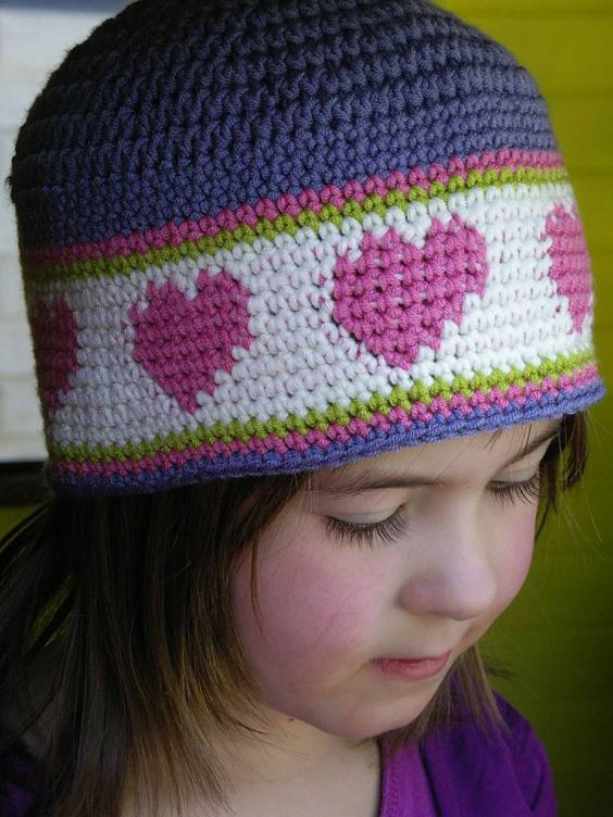 Crochet Patterns Dk Weight Yarn : Crochet Hat Pattern Sweetheart Hat Crochet by bubnutPatterns