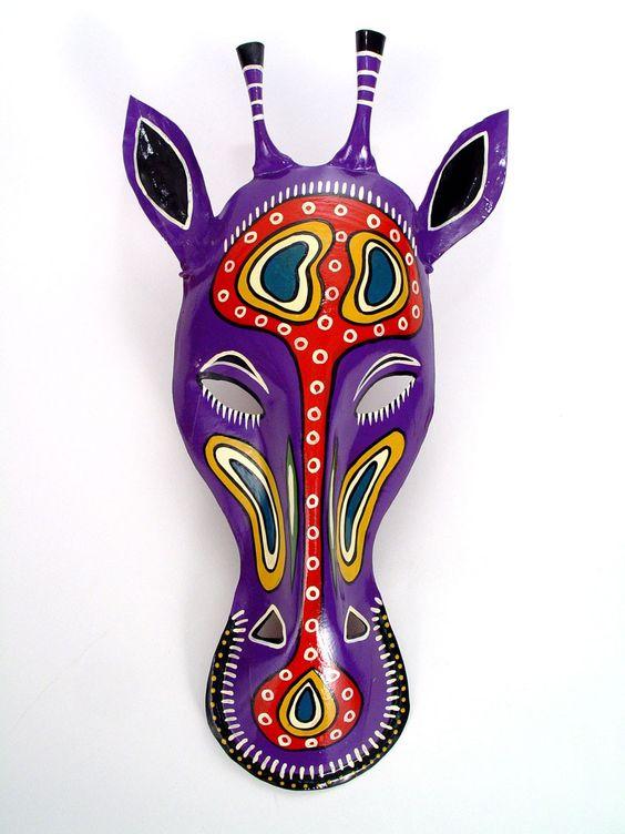 Máscara girafa