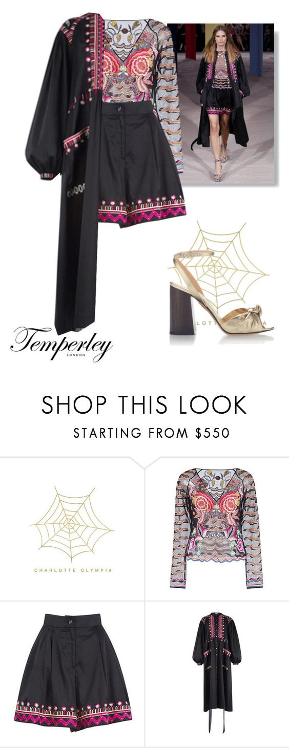 """Sin título #474"" by battistella on Polyvore featuring moda, Charlotte Olympia y Temperley London"