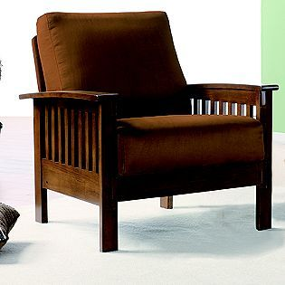 On sale!  Oxford Creek -Mission-style Oak and Rust Chair