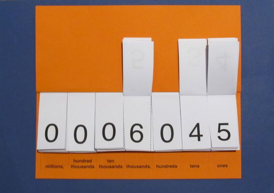 Here's a set of step-by-step directions for creating a place value flip book.