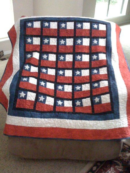 "Red, White, and Blue Quilt by ""RkayD"" from the quiltingboard.com:"