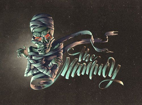Typeverything.com -The Mummy lettering by Kinessisk. (illustration by Andrey Koval)
