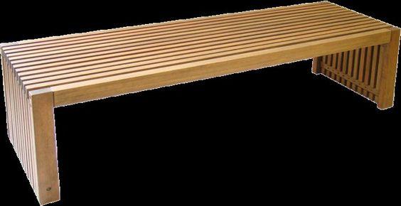Banco ripado de madeira - Portela Woods