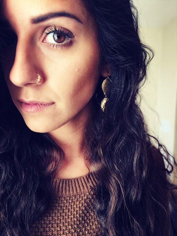 Swarovski crystal Indian nose ring. Septum. by AssyrianCreations