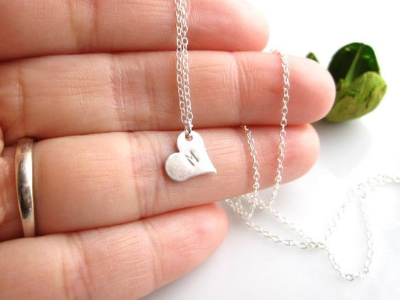 Personalised hearts for bridesmaids