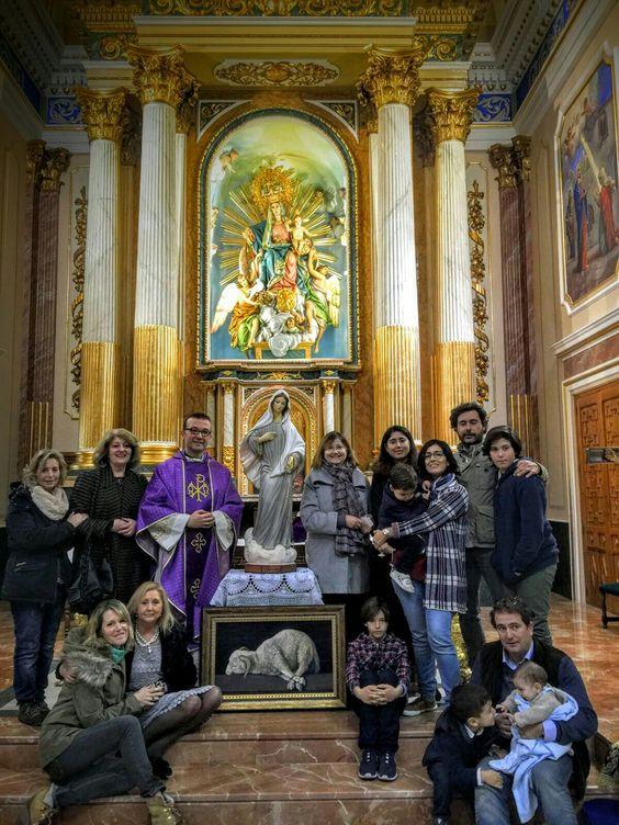 Entrega reproducción Agnus Dei, de Zurbarán, en la Parroquia de Nª Sª de los Ángeles, en Serra, Valencia. España.